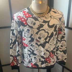 Disney Minnie Mouse Sweatshirt Size Large E0220